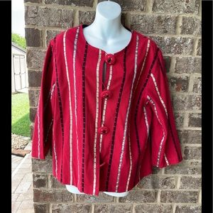 CHOICES RED Colorful NWT Jacket XL